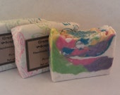 Monkey farts scented hot process soap hand made rainbow kid soap