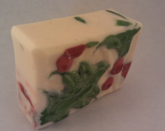 Tis the Season cold process soap holly cinnamon clove scent