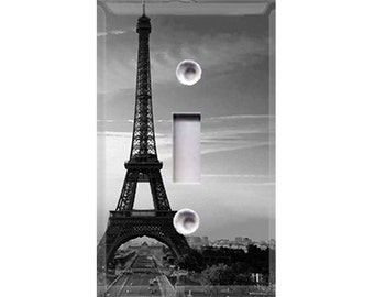 Eiffel Tower - Black and White Light Switch Cover