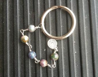 Ruby-In-Kyanite Spiral Keychain or Car Charm