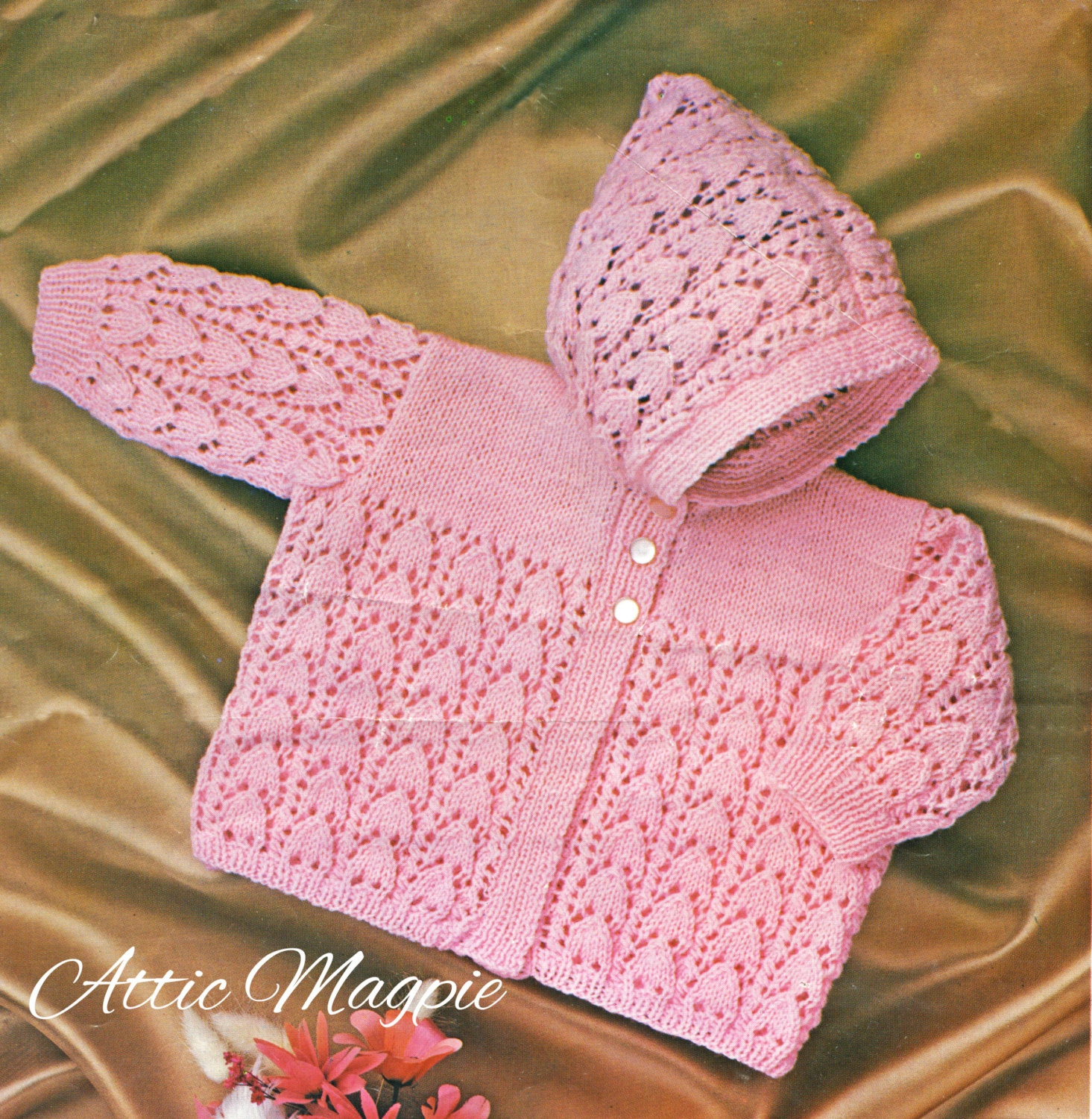 Vintage baby knitting pattern little girls lacy cardigan pdf this is a digital file bankloansurffo Images