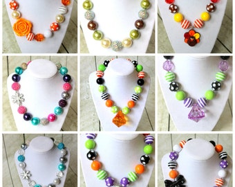 ADD a matching necklace listing Girls MATCHING chunky bead necklace