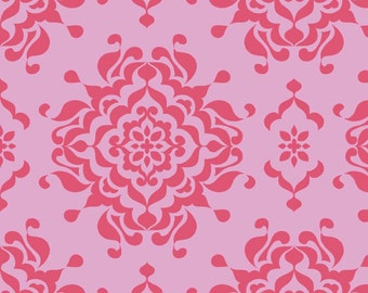 Half Yard - Splendor Damask in Pink by Lila Tueller for Riley Blake - 1/2 yard