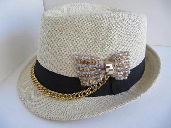 fedora hat fedora bling hat womens hat bling by