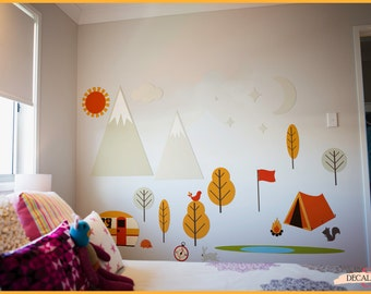 Wall Fabric Camping set - Completely Removable & Reuseable