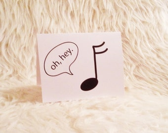 "Greeting Card - ""Just a Little Note Saying Hi"""