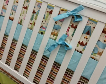 Crib Bedding, Outdoor Camping Crib bedding, Boy Girl Crib bedding,Baby Bedding,Baby Blanket,Curtains