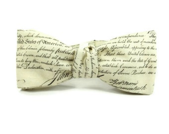 The Declaration of Independence bowtie, american bowtie, republican bowtie, political bowtie, conservative bowtie, teacher, mens