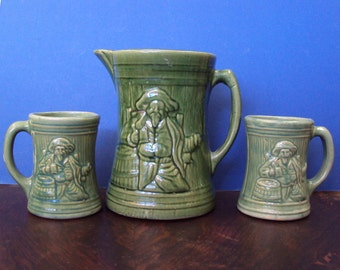 McCoy Pitcher and Mugs Pirate or Buccaneer 1926