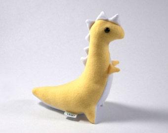Dinosaur Plush, Yellow and White T-Rex Plush, Stuffed T-Rex Dinosaur