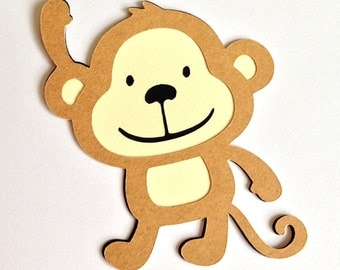 15 Monkey die cuts - 4 inches tall