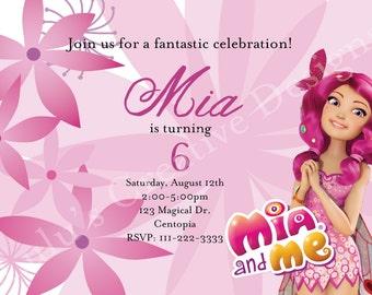 Mia and Me Invitation Birthday DIGITAL FILE Nick Jr. Einladungskarten Basteln