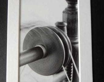 Black and White Photography - 5x7 - Black and White - Spinning Wheel 1