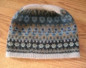 """The Blue Shimmer Cap Yarn only- Directions are in the book """"Poems of Color"""" by Wendy Keele"""