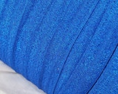 """3 or 5 or 10 Yards Royal Blue Frosted Glitter Fold Over Elastic - 5/8"""" FOE No Pull Material - Shiny and Bright Sparkles"""