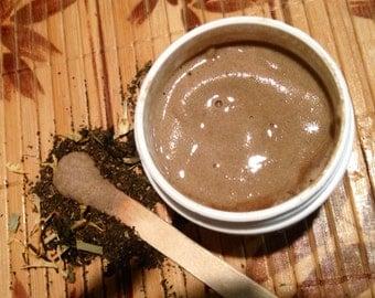 Green Tea Anti-Age Foaming Facial Scrub with pumice(Customized) Microdermabrasion
