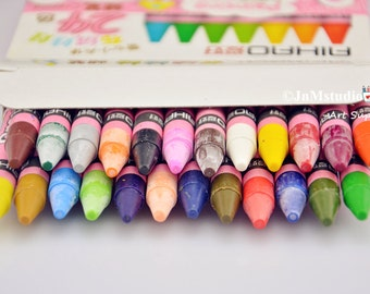 24/Pack Assorted colored painting crayons pastels