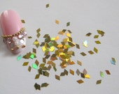 GD24-2 20g/bag Laser Gold Diamond Glitter Nail art Glitter Pieces Decoration Nail art decoration