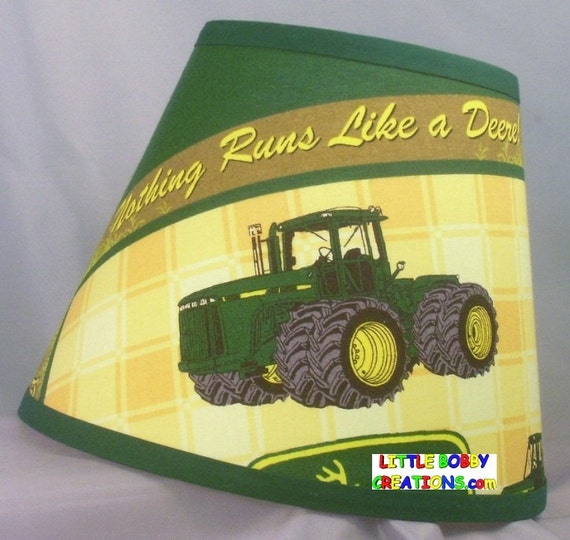 Tractor Lamp Shades : Coutnry tractor fabric lamp shade shades to choose from