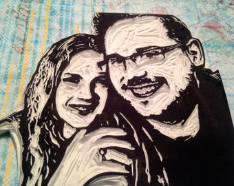 Custom Couple Portrait Stamp