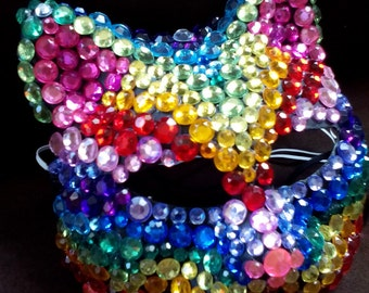 rainbow cat party mask
