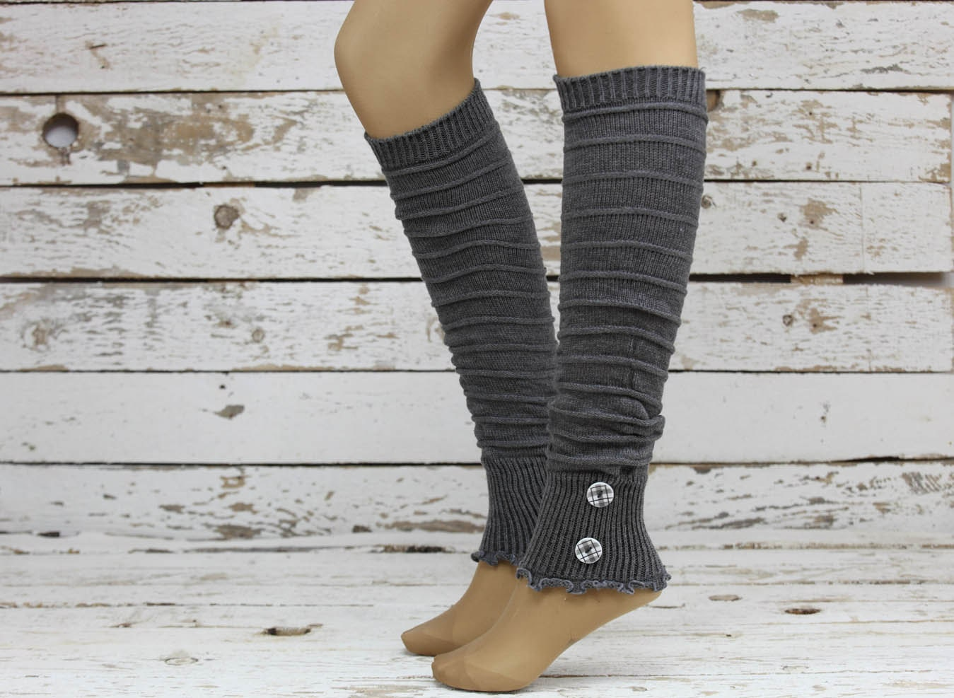 Leg Warmers-women Leg Warmers-Button Leg Warmers By DayfitFashion