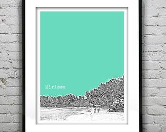 Mirissa Sri Lanka Poster Art Print Skyline