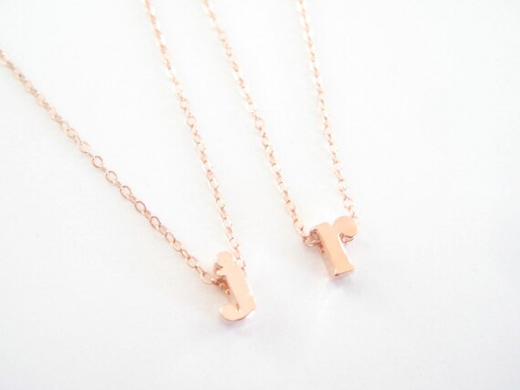 Lowercase initial necklace letter necklace by seoullittle for Lowercase letter necklace