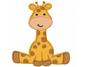 Giraffe baby Applique Machine Embroidery Design NO:0162