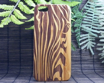 Zebra iPhone 6 and 6S Case. EcoFriendly Bamboo Wood Cover. iPhone 6S or 6 Case. Stripe Pattern Spirit Animal Totem Guardian iMakeTheCase