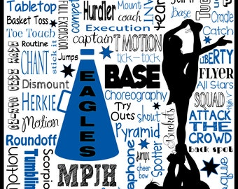 Cheer Typography Poster