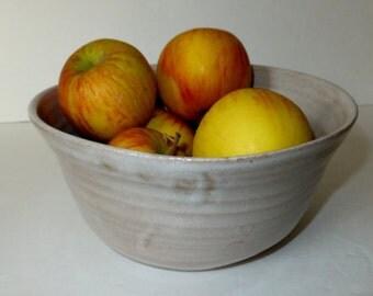Country Oatmeal White Minimalist Ceramic Bowl