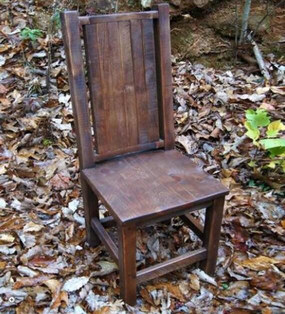 Reclaimed Wood Dining Chair Farm Chair By TheShopatRockCreek
