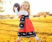 Denver Broncos Dress, Toddler Football Dress, Baby Football Dress, Broncos Dress, Denver Football Dress, NFL Dress, Bronco Dress