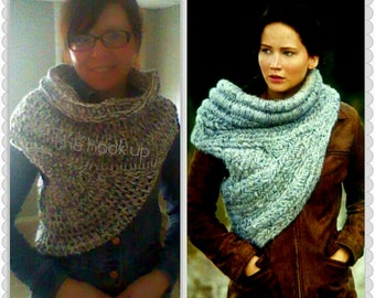 Free Knitting Pattern For Katniss Cowl : PATTERN Only! Catching Fire Scarf Hunger Games Scarf Katniss Everdeen Sca...