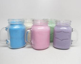 mini mason jar candle unscented soy candle. Black Bedroom Furniture Sets. Home Design Ideas