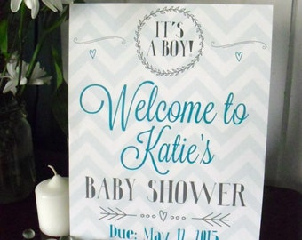 Welcome Baby Shower sign pdf printable