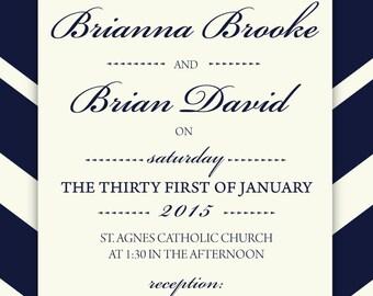 Brianna Wedding Invitation Printable