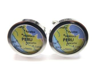 Peru Map Cufflinks