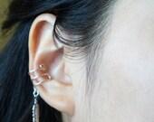 48)Silver Light Feather Ear Cuff