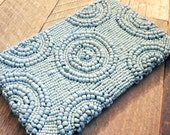 Bohemian Summer Placid Blue Beaded Clutch
