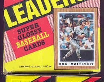 """1987 Topps Baseball Major League Leaders Wax Box """"MINT"""""""