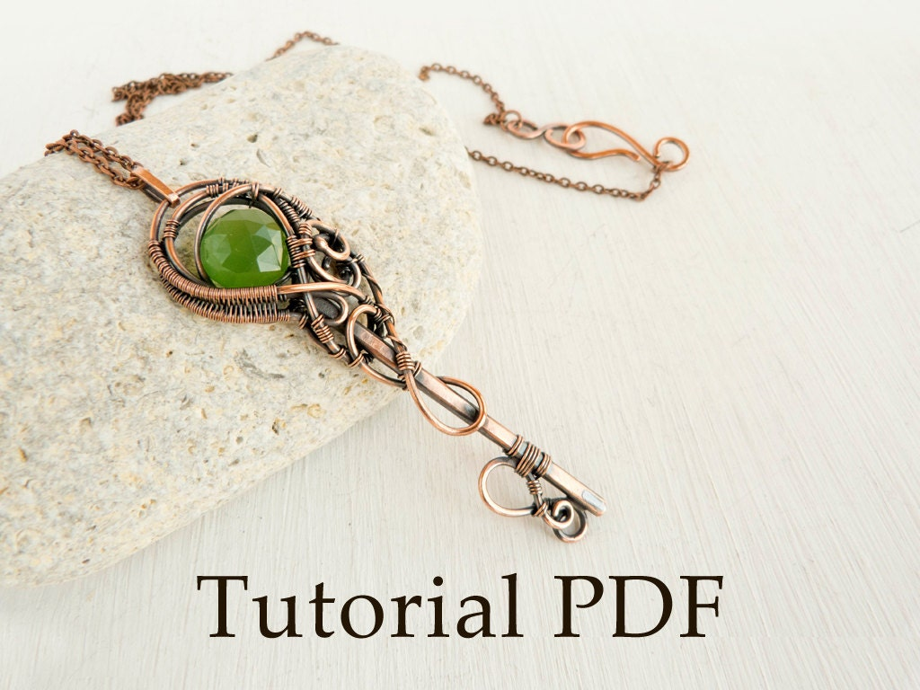 Tutorial jewelry diy project tutorial wire wrapped pendant for How to solder copper jewelry