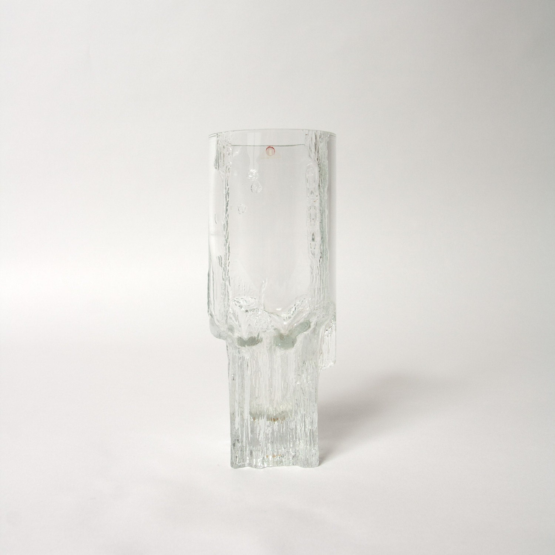 tapio wirkkala vase pinus iittala glass clear ice finland. Black Bedroom Furniture Sets. Home Design Ideas