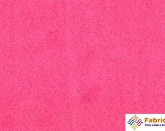 Hot Pink Fuschia Solid Minky Fabric, Sold by The Yard 6015