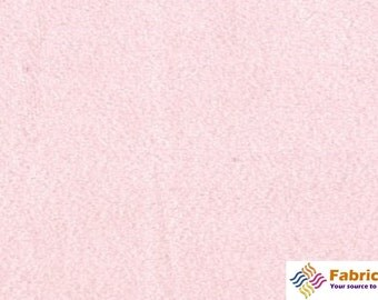 Light Pink Solid Minky Fabric, Sold by The Yard 6015