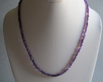 African Amethyst Eternity Necklace
