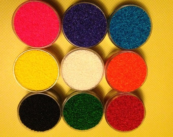 Rainbow Non Pareil Sprinkles Set of 9 one ounce jars