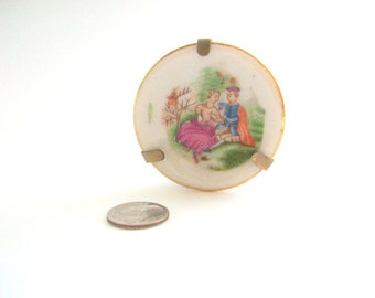 Fragonard Plate, Fragonard Miniature, Miniature Fragonard Plate, Miniature Plate, Dollhouse Plate, Plate Collectible, Plate with Stand