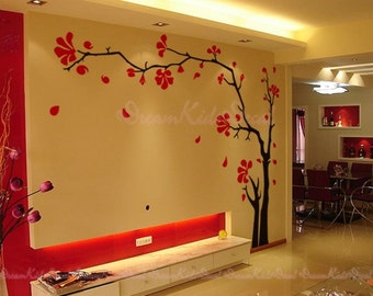Tree wall Decal Wall Sticker Baby Nursery Decals-Cherry Blossoms Tree Decal-DK132